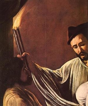 Reproduction oil paintings - Caravaggio - The Seven Acts of Mercy (detail 1) 1607