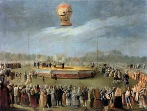 Ascent of the Balloon in the Presence of Charles IV and his Court c. 1783