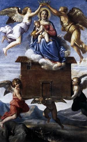 Annibale Carracci reproductions - Translation of the Holy House c. 1605
