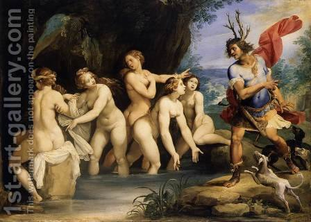 Diana and Actaeon 1603-06 by Giuseppe (d'Arpino) Cesari (Cavaliere) - Reproduction Oil Painting