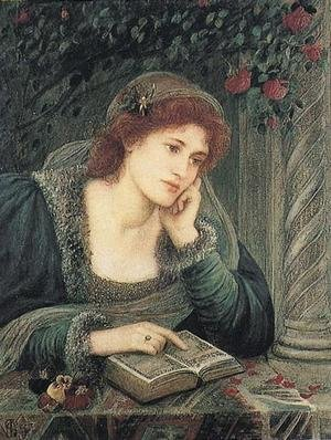 Maria Euphrosyne Spartali, later Stillman reproductions - Beatrice, 1895