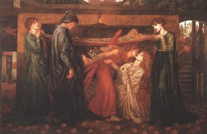 Maria Euphrosyne Spartali, later Stillman reproductions - Dante's Dream at the Time of the Death of Beatrice