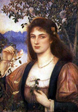 Reproduction oil paintings - Maria Euphrosyne Spartali, later Stillman - A Rose from Armida's Garden