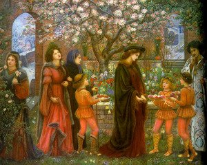 Reproduction oil paintings - Maria Euphrosyne Spartali, later Stillman - The Enchanted Garden of Messer Ansaldo