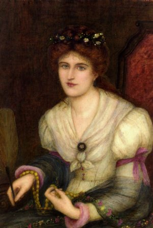 Reproduction oil paintings - Maria Euphrosyne Spartali, later Stillman - Self-Portrait
