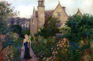 Maria Euphrosyne Spartali, later Stillman reproductions - The Long Walk At Kelmscott Manor, Oxfordshire