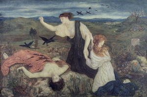 Reproduction oil paintings - Maria Euphrosyne Spartali, later Stillman - Antigone from 'Antigone' by Sophocles