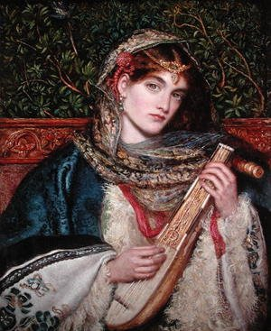 Reproduction oil paintings - Maria Euphrosyne Spartali, later Stillman - Girl Playing Music
