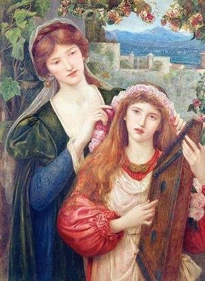 Reproduction oil paintings - Maria Euphrosyne Spartali, later Stillman - The Childhood of Saint Cecily