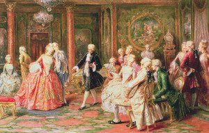Rococo painting reproductions: The Waltz