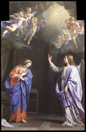 Reproduction oil paintings - Philippe de Champaigne - The Annunciation c. 1645