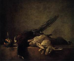 Rococo painting reproductions: Still-Life with Pheasant c. 1750