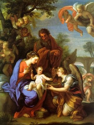 Famous paintings of The Holy Family: The Rest on the Flight into Egypt