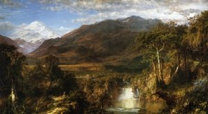 Hudson River School painting reproductions: The Heart of the Andes 1859