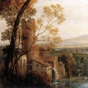 Famous paintings of Mills: Landscape with Dancing Figures (detail) 1648