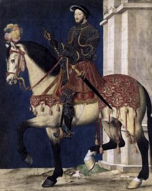 Mannerism painting reproductions: Portrait of Francis I, King of France c. 1540