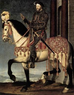 Mannerism painting reproductions: Portrait of Francis I, King of France c. 1540 2