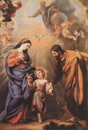 Famous paintings of Angels: Holy Family