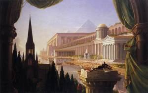 Romanticism painting reproductions: The Architect's Dream 1840