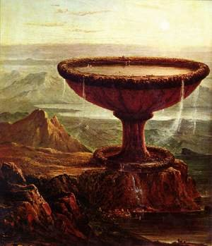Reproduction oil paintings - Thomas Cole - The Titan's Goblet 1833