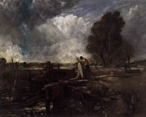 Reproduction oil paintings - John Constable - A Boat at the Sluice (sketch)