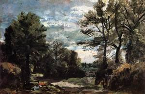 Reproduction oil paintings - John Constable - A Lane near Flatford 1810-11