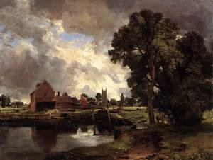 Reproduction oil paintings - John Constable - Dedham Lock and Mill c. 1818