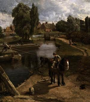 Reproduction oil paintings - John Constable - Flatford Mill (detail) 1817