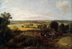 Reproduction oil paintings - John Constable - The Stour-Valley with the Church of Dedham 1814