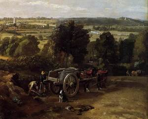 Reproduction oil paintings - John Constable - The Stour-Valley with the Church of Dedham (detail) 1814