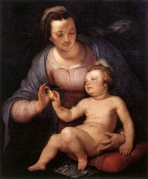Mannerism painting reproductions: Madonna and Child 1617