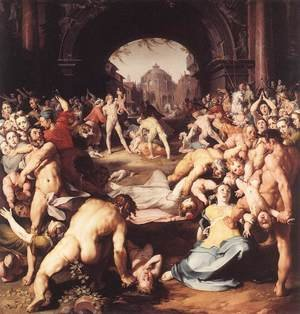 Mannerism painting reproductions: Massacre of the Innocents 1591