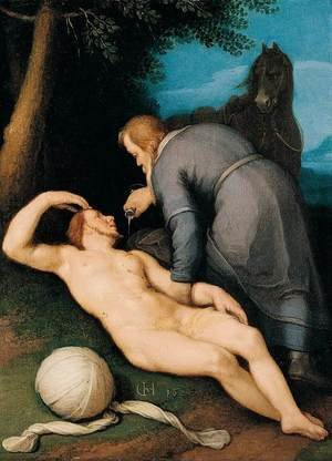 Mannerism painting reproductions: The Good Samaritan 1627
