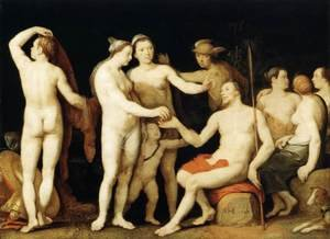 Mannerism painting reproductions: The Judgment of Paris 1628