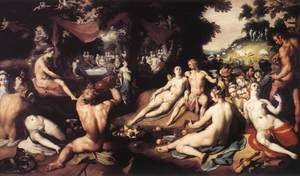 Mannerism painting reproductions: The Wedding of Peleus and Thetis 1593