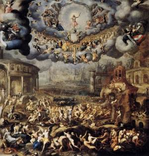 Mannerism painting reproductions: Last Judgment 1585