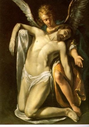 Daniele Crespi reproductions - The Dead Christ Supported by an Angel