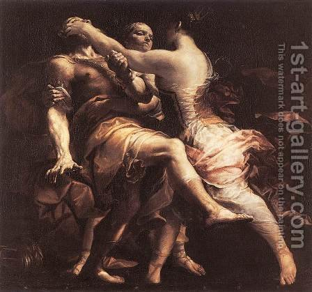 Hecuba Blinding Polymnestor by Giuseppe Maria Crespi - Reproduction Oil Painting