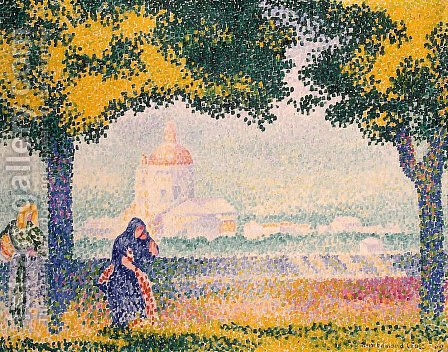 The Church of Santa Maria degli Angeli near Assisi 1909 by Henri Edmond Cross - Reproduction Oil Painting
