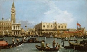 Famous paintings of Ships & Boats: The Basin of San Marco on Ascension Day 1732