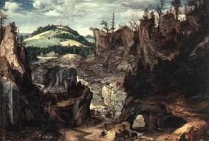 Mannerism painting reproductions: Landscape with Shepherds 1550-60