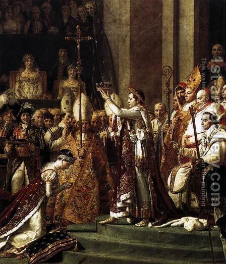 Jacques Louis David: Consecration of the Emperor Napoleon I (detail 2) 1805-07 - reproduction oil painting