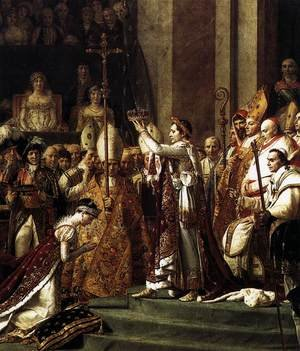 Reproduction oil paintings - Jacques Louis David - Consecration of the Emperor Napoleon I (detail 2) 1805-07