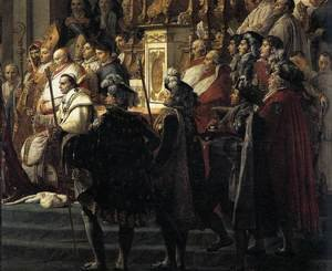 Reproduction oil paintings - Jacques Louis David - Consecration of the Emperor Napoleon I (detail 3) 1805-07