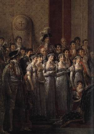 Reproduction oil paintings - Jacques Louis David - Consecration of the Emperor Napoleon I (detail 4) 1805-07