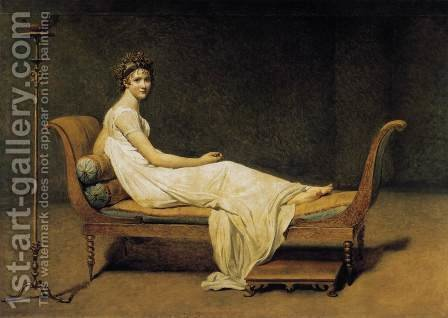 Madame Récamier 1800 by Jacques Louis David - Reproduction Oil Painting