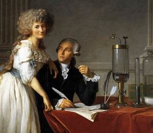 Reproduction oil paintings - Jacques Louis David - Portrait of Antoine-Laurent and Marie-Anne Lavoisier (detail) 1788