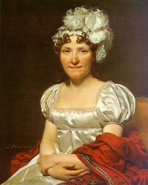 Reproduction oil paintings - Jacques Louis David - Portrait of Charlotte David (Madame David) 1813
