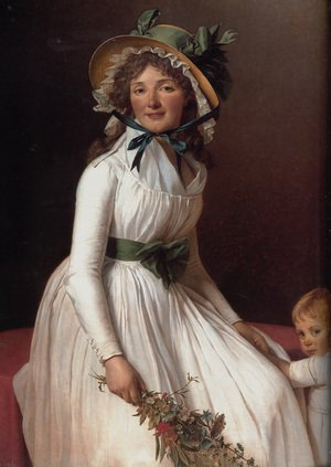 Reproduction oil paintings - Jacques Louis David - Portrait of Emilie Sériziat and her Son 1795