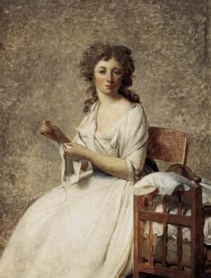 Reproduction oil paintings - Jacques Louis David - Portrait of Madame Adelaide Pastoret 1791-92